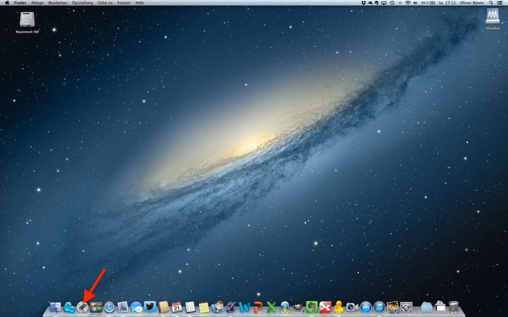 Desktop Launchpad Mac OS 10 öffnen