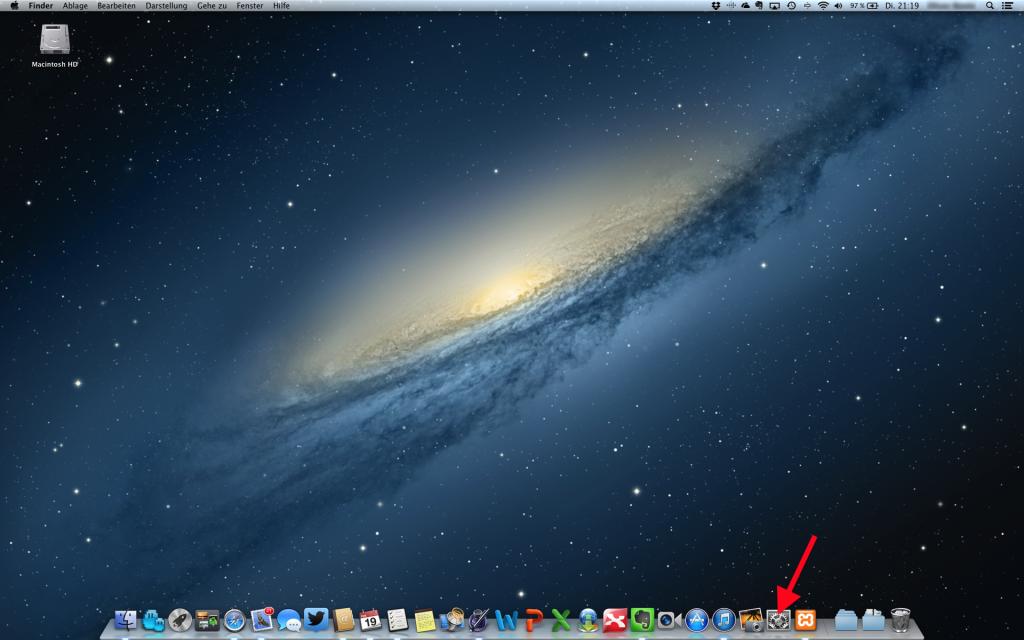 Desktop Systemeinstellungen Mac OS X öffnen