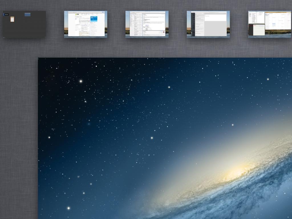 Schreibtische Spaces Mac OS X