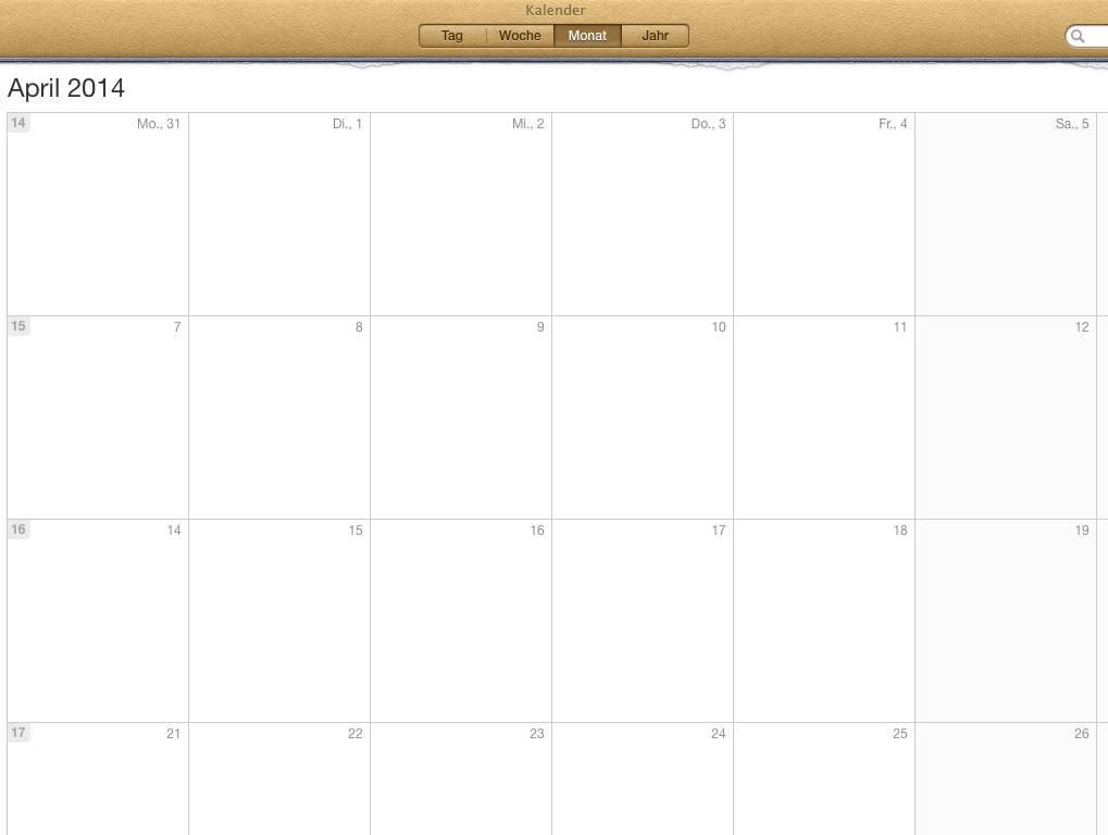 Wochenzahlen im Kalender unter Mac OS X einblenden