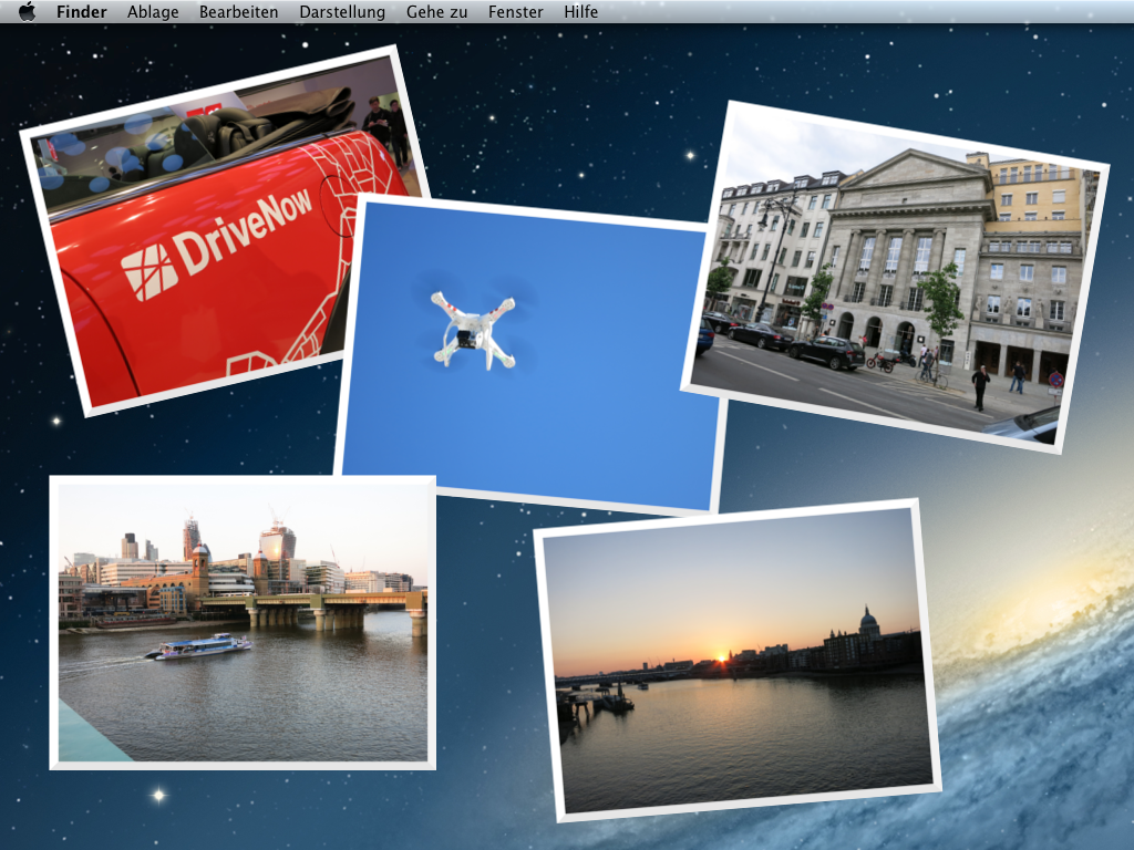 Fotos in einem Ordner mit Bordmitteln unter Mac OS X anzeigen