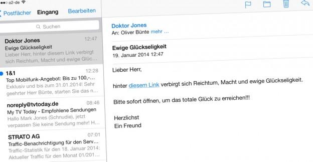 Zieladresse eines Links bei Safari und Mail unter iOS anzeigen