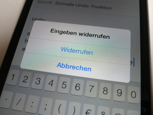 Schnelle Undo-Funktion auf dem iPhone und iPad unter iOS 7 aufrufen