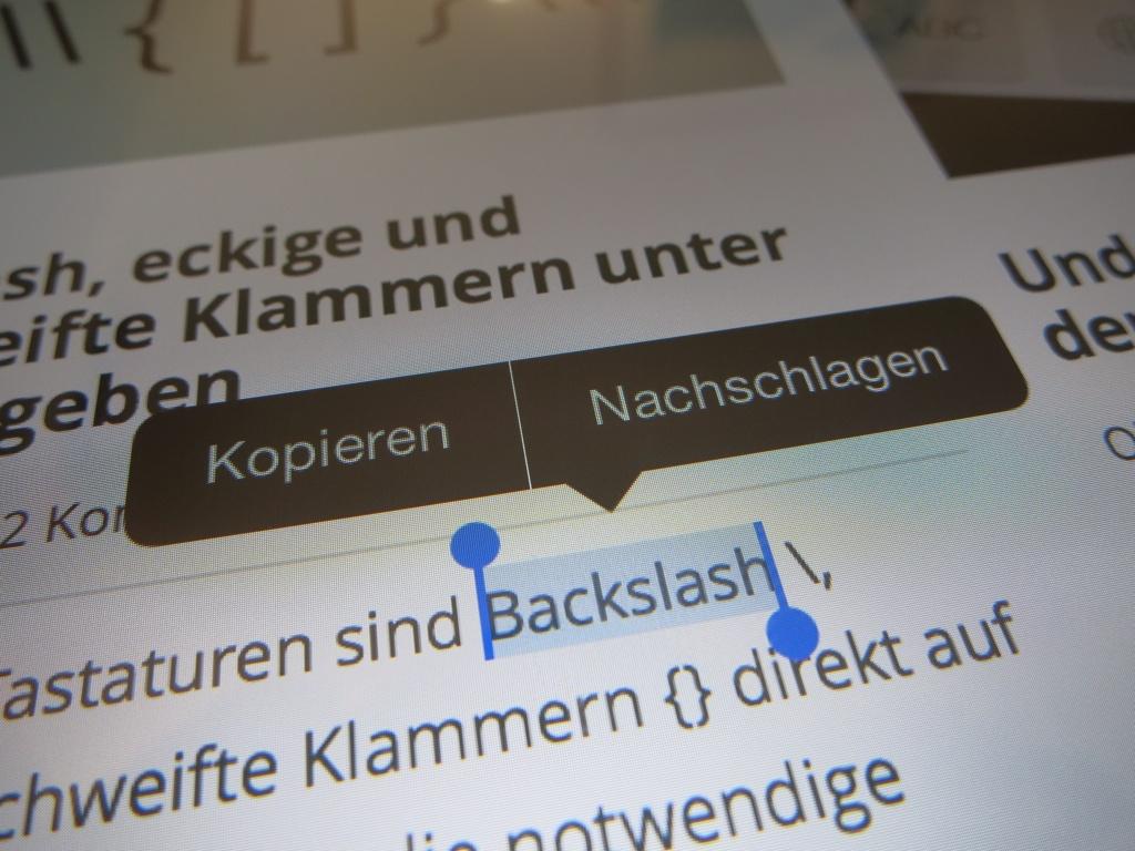 Unbekannte Wörter auf dem iPhone und iPad nachschlagen