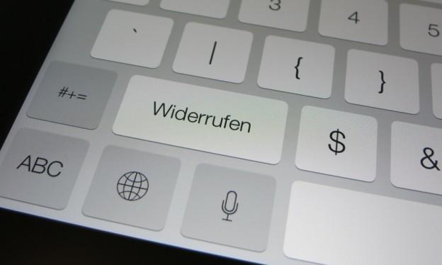 Undo- und Redo-Funktion auf dem iPad unter iOS 7 benutzen