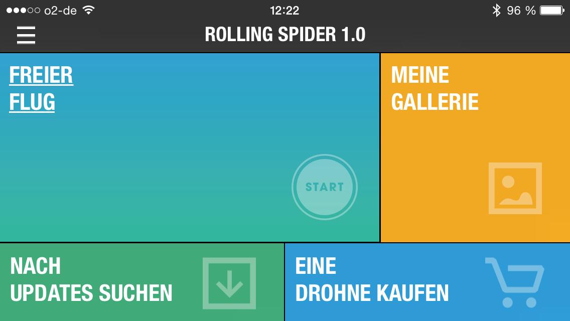 Freeflight 3 App für Parrot Rolling Spider