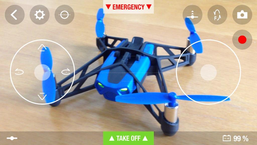 JoyPad-Modus des Parrot Rolling Spider