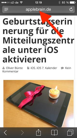 Webseite iPhone öffnen