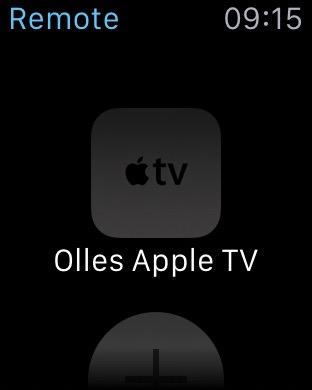 Apple TV auf der Apple Watch auswählen