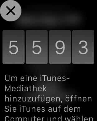 Code für Apple TV Koppelung auf Apple Watch