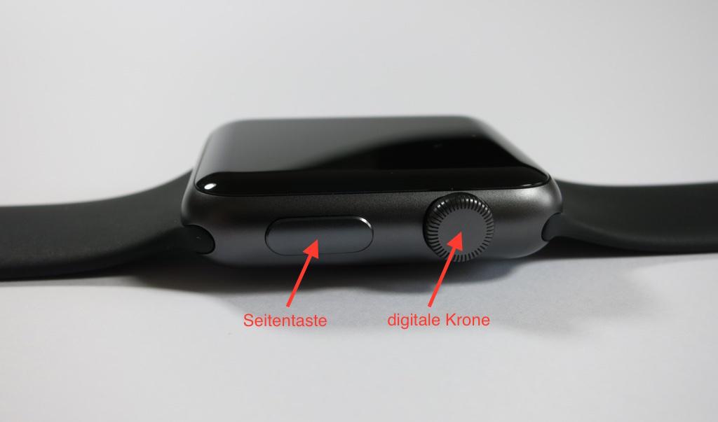 Digitale Krone und Seitentaste Apple Watch