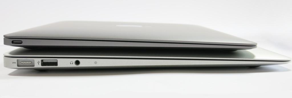 MacBook12 Vergleich MacBook 13 Seitenansicht