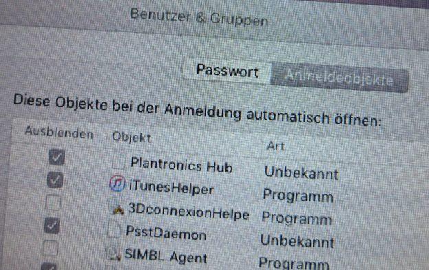 Autostart einer App auf dem Mac einrichten