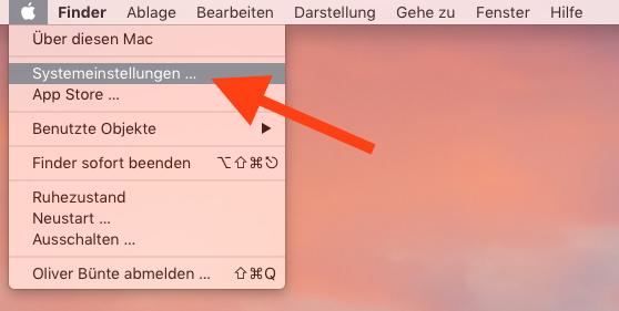 Autostart einer App auf dem Mac einrichten Systemeinstellungen aufrufen