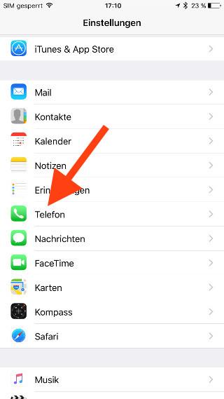SIM-Karte unter iOS nachträglich entsperren Telefon