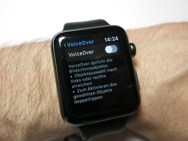 Siris Sprachausgabe auf der Apple Watch mit Voiceover simulieren