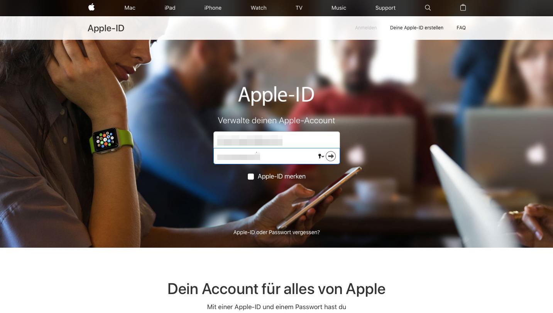 Anwendungsspezifische iCloud-Passwoerter iCloud einloggen