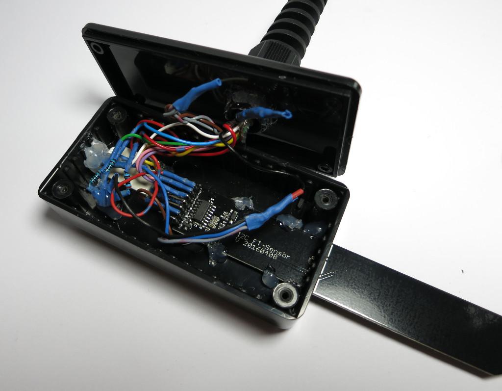 Strauchie-Bot Sensoreinheit geöffnet