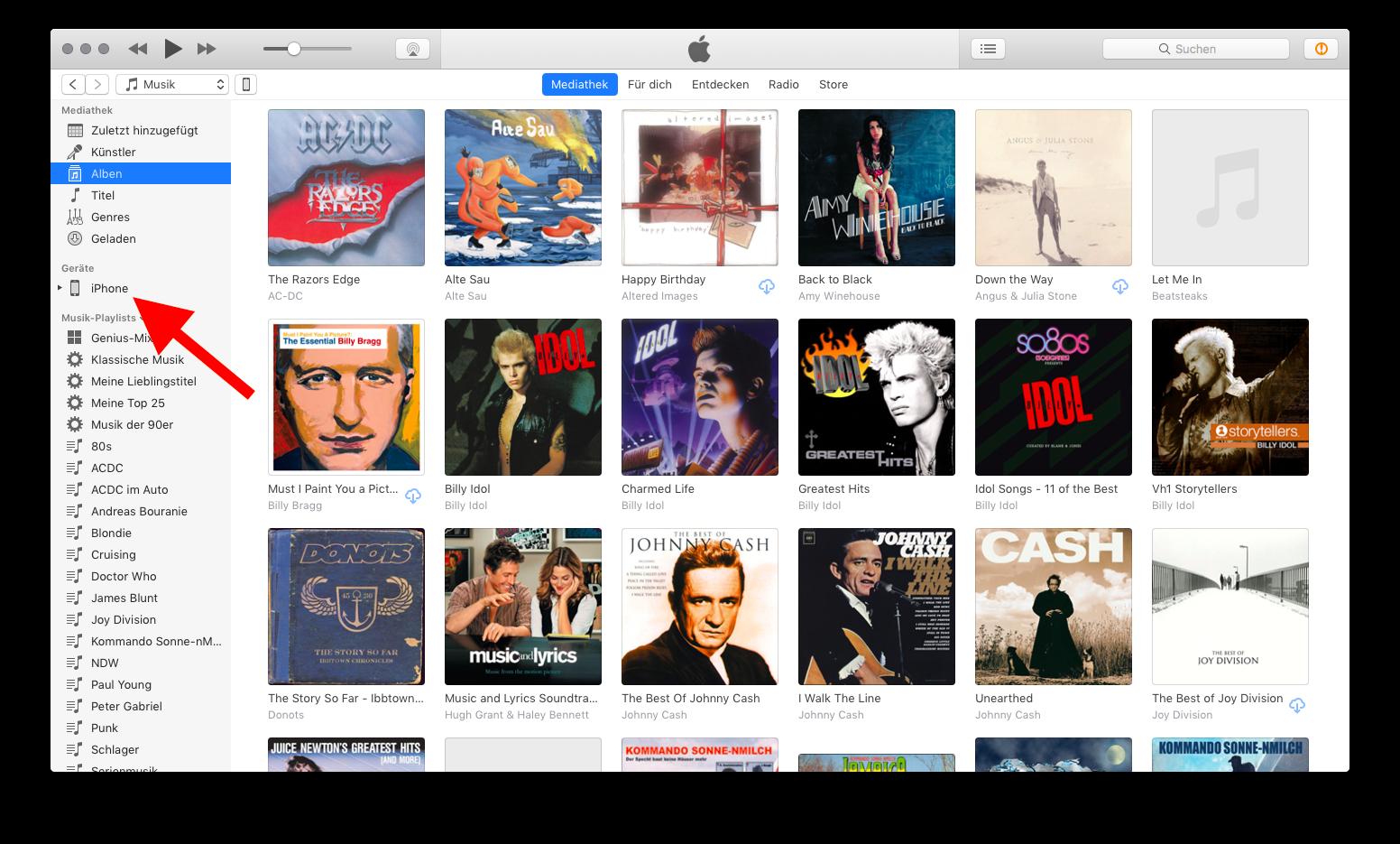 Klingel- und Benachrichtigungstöne auf das iPhone übertragen M4R in iTunes ziehen