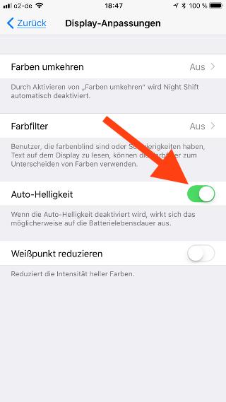 Automatische Helligkeit beim Apple iPhone und iPad ein- und ausschalten Auto-Helligkeit schalten