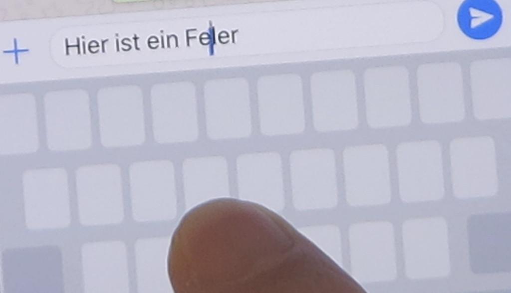 Textcursor einfacher auf dem Apple iPhone bewegen