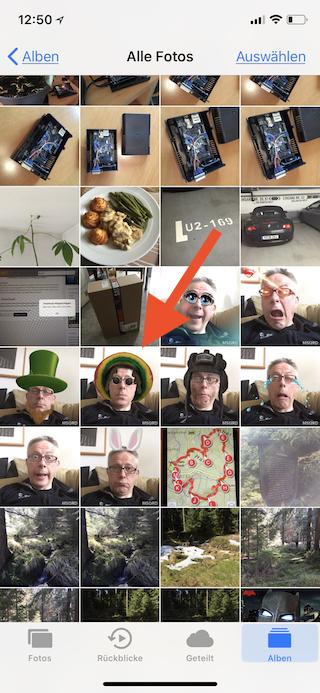 Apple Watch Zifferblatt aus Fotos erstellen Foto auswählen