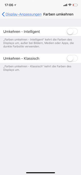 Stromsparen beim Apple iPhone Umkehren Intelligent
