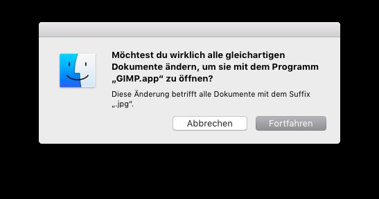 Dateityp anderen macOS-Apps zuweisen Änderungen bestätigen