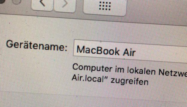 Name eines Mac ändern