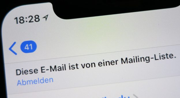 Newsletter unter iOS in Mail abmelden