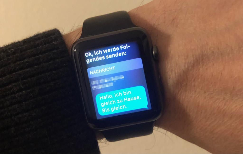 Sprachnachrichten mit der Apple Watch automatisch als Textnachricht versenden