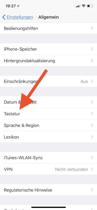 Apple-Logo als Emoji auf dem Apple iPhone iPad und Mac einsetzen Tastatur öffnen