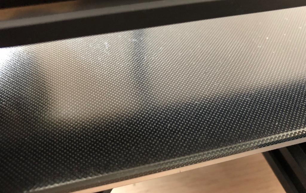 Test Anycubic Ultrabase Druckbettauflage mit Haftbeschichtung für 3D-Drucker Oberfläche
