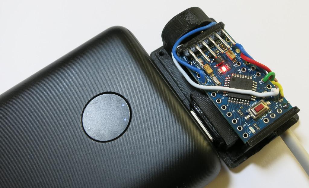 Automatische Abschaltung von Powerbanks als Arduino-Stromversorgung bei geringer Grundlast verhindern