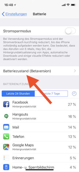 Akkuzustand des Apple iPhone ermitteln Batteriezustand aufrufen