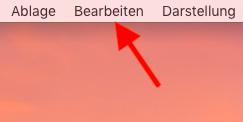 Autokorrektur auf dem Mac ausschalten Bearbeiten aufrufen
