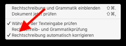 Autokorrektur auf dem Mac ausschalten Rechtschreibung automatisch korrigieren ausschalten