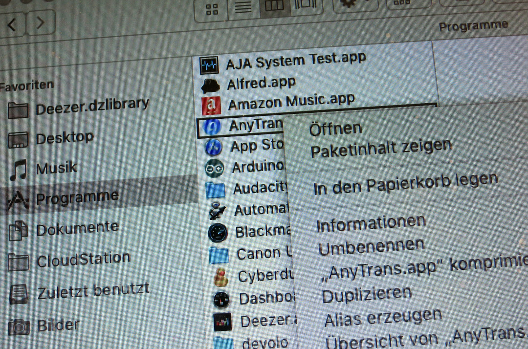Programme unter macOS deinstallieren