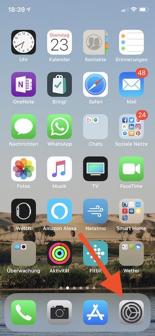 Maximale Lautstärke für Musik auf dem Apple iPhone und iPad begrenzen Einstellungen öffnen