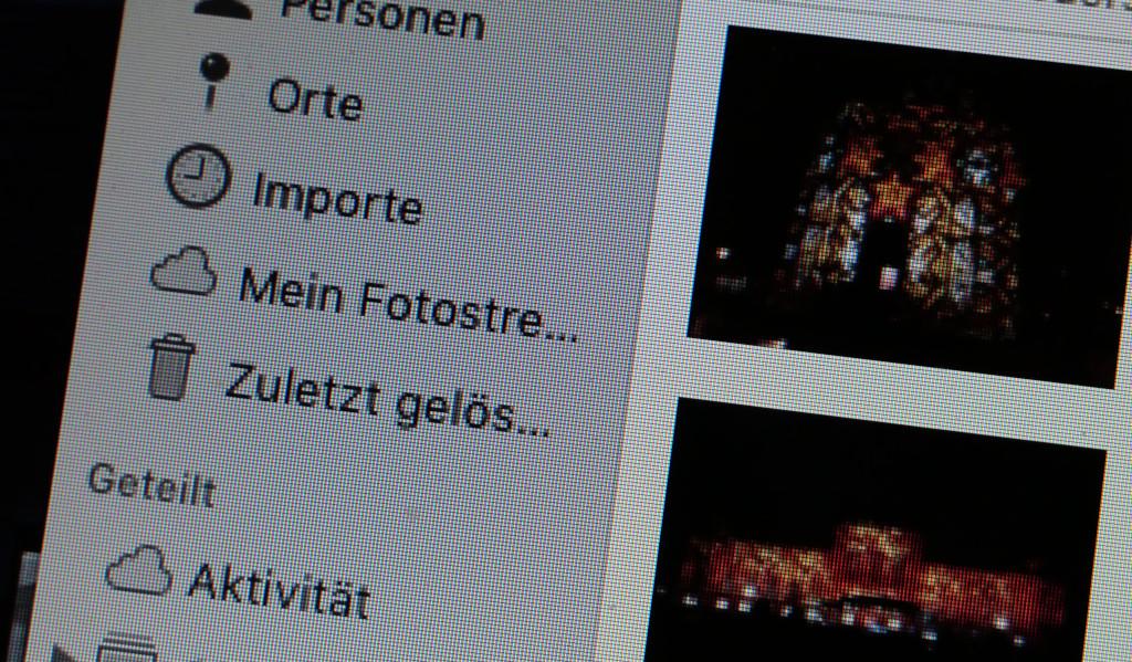 In der Fotos-App gelöschte Fotos auf dem Mac wiederherstellen
