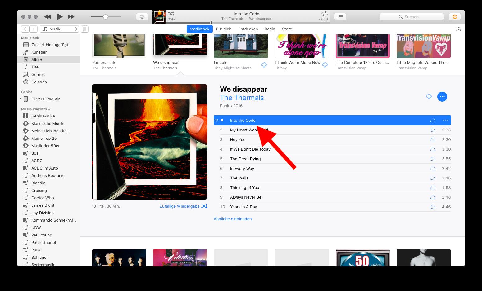 Klingelton und Textton für das Apple iPhone mit iTunes erstellen 01 Titelinfo aufrufen Rechtsklick