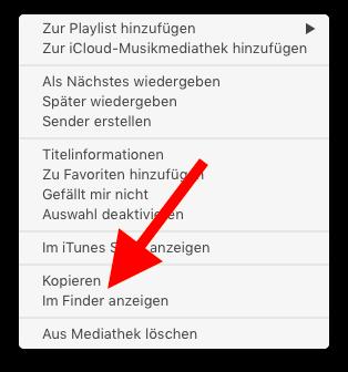 Klingelton und Textton für das Apple iPhone mit iTunes erstellen 13 Im Finder anzeigen