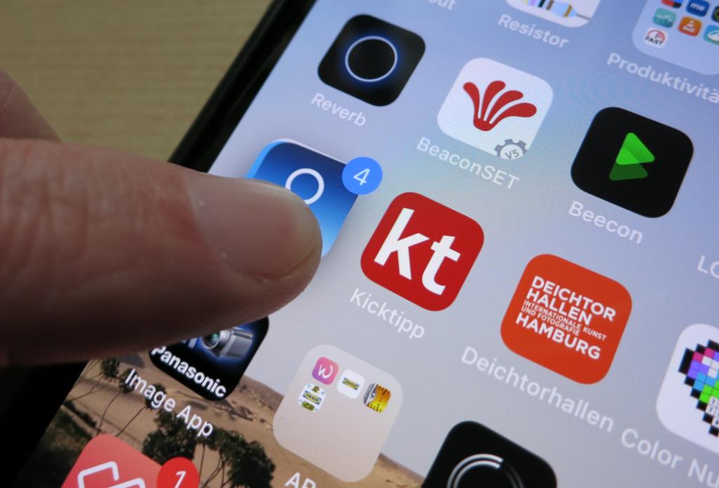 Unter iOS mehrere Apps gleichzeitig verschieben