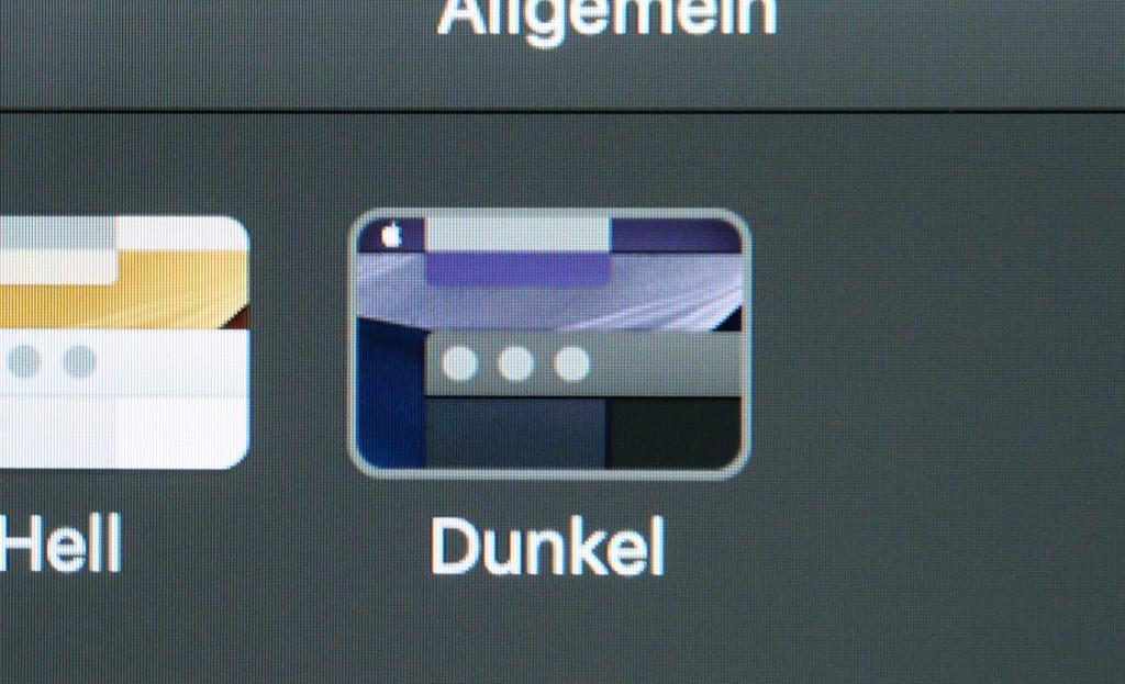 Dark Mode unter macOS ein- und ausschalten