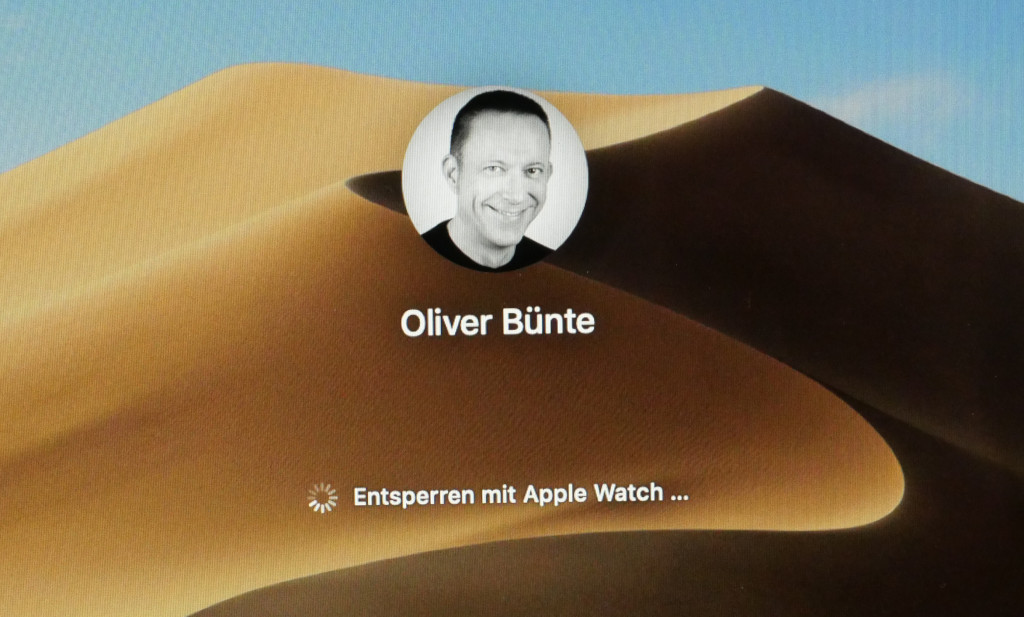 Mac mit der Apple Watch entsperren