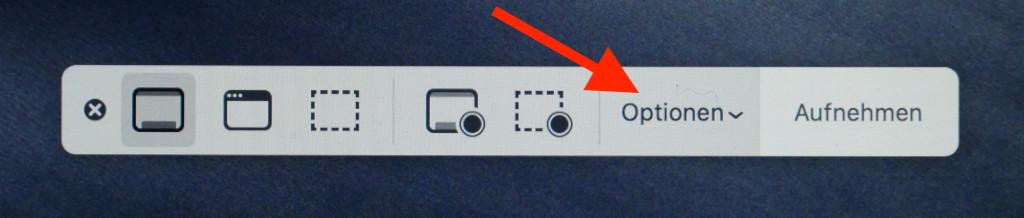 Screenshots und Bildschirmvideos unter macOS anfertigen Optionen aufrufen