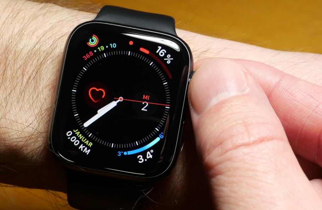 Klicken der digitalen Krone (Digital Crown) bei der Apple Watch abschalten
