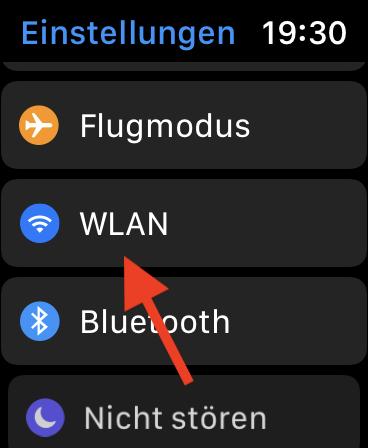 WLAN-Verbindung auf der Apple Watch herstellen WLAN öffnen