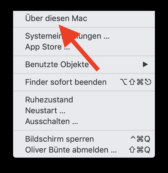 32-Bit-Apps unter macOS finden und aussortieren Über diesen Mac anwählen