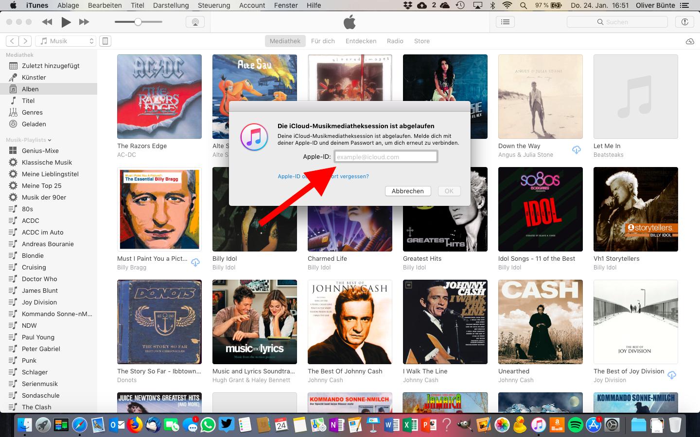 Mac deautorisieren Apple ID eingeben